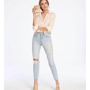 Levi's Skinny Selvedge jeans 501 distressed
